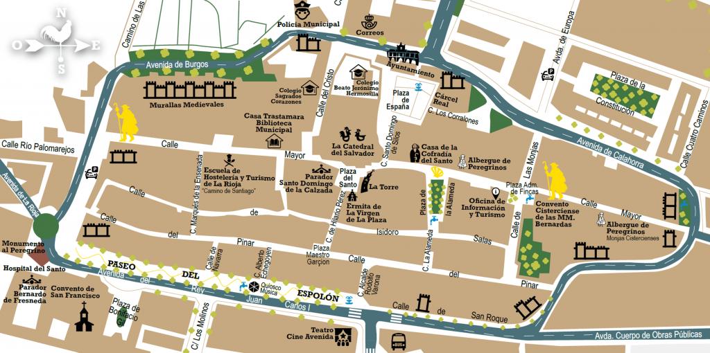 Santo Domingo de la Calzada - Plano turístico