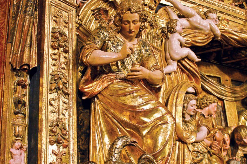 Santo Domingo de la Calzada - Catedral del Salvador. Detalle del retablo mayor